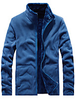 cheap -Men's Hiking Fleece Jacket Winter Outdoor Fleece Lining Warm Comfortable Winter Fleece Jacket Single Slider Climbing Camping / Hiking / Caving Winter Sports Blue / Grey / Light Grey / Dark Blue