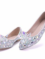 cheap -Women's Wedding Shoes Flat Heel Pointed Toe PU Spring & Summer White / Rainbow