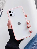 cheap -Case For Apple iPhone 11 / iPhone 11 Pro / iPhone 11 Pro Max Shockproof / Ultra-thin / Frosted Back Cover Transparent / Solid Colored TPU / PC