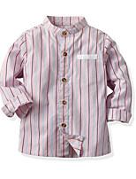 cheap -Kids Toddler Boys' Basic Street chic Striped Long Sleeve Shirt Blushing Pink