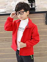 cheap -Boys' Hiking Fleece Jacket Winter Outdoor Windproof Warm Comfortable Jacket Winter Fleece Jacket Top Fleece Camping / Hiking / Caving Traveling Winter Sports Green / Red / Blue