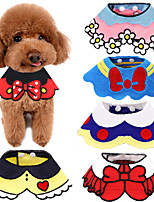 cheap -Dog Cat Ornaments Dog Scarf Tie / Bow Tie Dog Clothes Black Yellow Red Costume Husky Labrador Alaskan Malamute Cotton Cartoon Cute M L