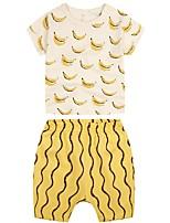 cheap -Kids Boys' Basic Fruit Short Sleeve Clothing Set Yellow