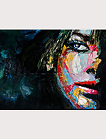 cheap -Oil Painting Hand Painted - Abstract People Modern Rolled Canvas
