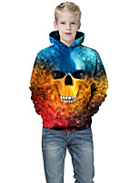 cheap -Kids Boys' Active Punk & Gothic Color Block 3D Plaid Long Sleeve Hoodie & Sweatshirt Blue