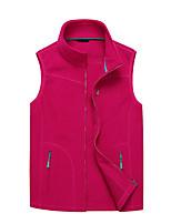cheap -Women's Hiking Fleece Vest Winter Outdoor Windproof Fleece Lining Warm Comfortable Vest / Gilet Jacket Top Fleece Single Slider Climbing Camping / Hiking / Caving Winter Sports Violet / Purple