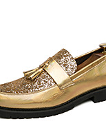 cheap -Men's Dress Shoes Synthetics Spring & Summer / Fall & Winter Casual / British Loafers & Slip-Ons Non-slipping Gold / Silver / Tassel / Party & Evening