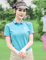 cheap -Women's Girls' Tee / T-shirt Short Sleeve Golf Leisure Sports Outdoor Autumn / Fall Spring Summer / Micro-elastic / Breathable