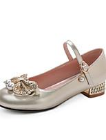 cheap -Women's Heels Chunky Heel Round Toe PU / Synthetics Spring &  Fall Gold / Silver