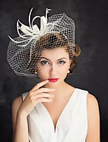cheap -Queen Elizabeth The Marvelous Mrs. Maisel Retro Vintage Kentucky Derby Hat Fascinator Hat Women's Costume Head Jewelry White / Red Vintage Cosplay Party Party Evening / Headwear