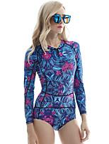 cheap -Zentai Suits Swimwear Skin Suit Ninja Adults' Cosplay Costumes Ultra Sexy Women's Royal Blue / White / Black Printing Halloween Carnival Masquerade / Leotard / Onesie / Leotard / Onesie