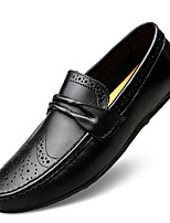 cheap -Men's Moccasin Nappa Leather Spring & Summer / Fall & Winter Casual / British Loafers & Slip-Ons Non-slipping Black / Brown