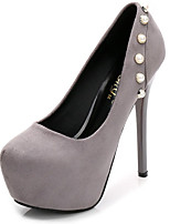 cheap -Women's Heels Stiletto Heel Round Toe Synthetics Sweet / British Fall / Spring & Summer Black / Green / Gray / Party & Evening