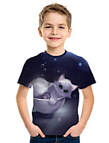 cheap -Kids Boys' Active Street chic 3D Print Short Sleeve Tee Black