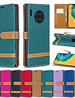 cheap -Case For Huawei Huawei P20 / Huawei P20 Pro / Huawei P20 lite Wallet / Card Holder / with Stand Full Body Cases Solid Colored PU Leather / TPU