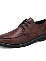 cheap -Men's Comfort Shoes PU Fall & Winter Oxfords Black / Brown / Light Brown