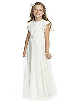 cheap -Princess Flower Girl Dress Girls' Movie Cosplay Cosplay Halloween White Dress Halloween Carnival Masquerade Polyester