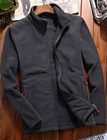 cheap -Men's Hiking Fleece Jacket Winter Outdoor Fleece Lining Warm Comfortable Winter Fleece Jacket Single Slider Climbing Camping / Hiking / Caving Winter Sports White / Army Green / Blue / Grey