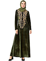 cheap -Adults' Women's Abaya Dress For Party Pleuche Embroidered Halloween Carnival Masquerade Dress