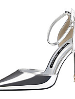 cheap -Women's Heels Stiletto Heel Pointed Toe Synthetics Sweet / British Summer / Spring & Summer Black / Champagne / Gold / Wedding / Party & Evening