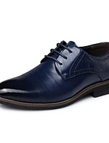 cheap -Men's Formal Shoes PU Spring Oxfords Black / Brown / Blue