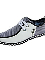 cheap -Men's Moccasin PU Fall Sneakers Black / White / Blue