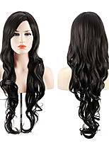cheap -Synthetic Wig Cosplay Wig Highlighted Hair Wavy Body Wave Side Part Wig Long Natural Black Synthetic Hair 26inch Women's Cosplay Soft Adjustable Black / Heat Resistant