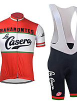 cheap -21Grams Men's Short Sleeve Cycling Jersey with Bib Shorts Red / White National Flag Bike Clothing Suit UV Resistant Breathable Quick Dry Sports Letter & Number Mountain Bike MTB Road Bike Cycling