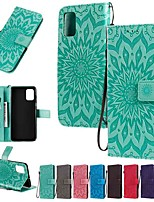 cheap -Case For Samsung Galaxy Samsung Galaxy A90(2019) / Galaxy A2 Core / Galaxy A20e Wallet / Card Holder / with Stand Full Body Cases Solid Colored / Flower PU Leather
