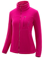 cheap -Women's Hiking Fleece Jacket Winter Outdoor Fleece Lining Warm Comfortable Winter Fleece Jacket Single Slider Climbing Camping / Hiking / Caving Winter Sports Purple / Pink