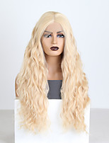 cheap -Synthetic Lace Front Wig Body Wave Middle Part Lace Front Wig Long Blonde Synthetic Hair 18-26 inch Women's Heat Resistant Synthetic Easy dressing Blonde / Natural Hairline