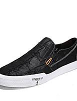 cheap -Men's Comfort Shoes Microfiber Fall & Winter Loafers & Slip-Ons Black / Brown / Khaki