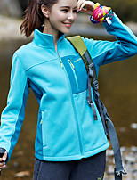 cheap -Women's Hiking Fleece Jacket Winter Outdoor Fleece Lining Warm Comfortable Winter Fleece Jacket Single Slider Climbing Camping / Hiking / Caving Winter Sports Purple / Blue / Rose Red