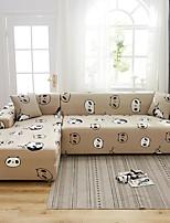 Недорогие -мультфильм панда принт пылезащитный всесильный чехлы стрейч l форма чехол для дивана супер мягкая ткань чехол для дивана с одной бесплатной наволочкой