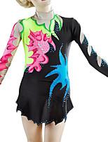 cheap -21Grams Rhythmic Gymnastics Leotards Artistic Gymnastics Leotards Women's Girls' Leotard Black Spandex High Elasticity Breathable Handmade Jeweled Diamond Look Long Sleeve Training Dance Rhythmic