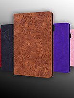 cheap -Case For Samsung Galaxy Tab A2 10.5(2018)/Tab A 10.1(2019)T510/ Tab A 8.0(2019)T290/295 Wallet / Card Holder / Embossed Full Body Cases Solid Colored / Flower PU Leather For Galaxy T580/T720/T830/T860