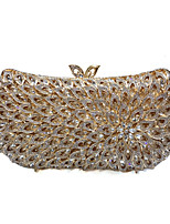 cheap -Women's Crystals / Hollow-out Alloy Evening Bag Solid Color Gold
