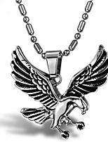 cheap -Men's Pendant Necklace Classic Eagle Punk Titanium Steel Silver 55 cm Necklace Jewelry 1 Piece For Daily Wear Holiday