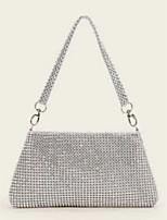 cheap -Women's PVC(PolyVinyl Chloride) Top Handle Bag Solid Color Silver