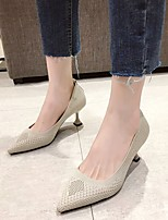 cheap -Women's Heels Kitten Heel Pointed Toe Elastic Fabric Business / Vintage Spring &  Fall / Spring & Summer Black / Red / Beige / Party & Evening