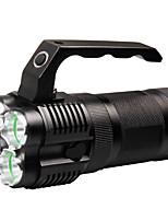 abordables -Lampes de poche 500 lm LED LED 4 Émetteurs avec Chargeur Portable Camping / Randonnée / Spéléologie Usage quotidien Cyclisme Noir