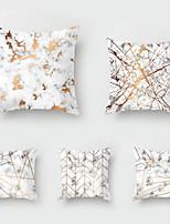 cheap -5 pcs Throw Pillow Simple Classic 45*45 cm Nordic marbled Car Waist Pillow Sofa pillow case