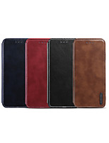 cheap -Case For Apple iPhone XS / iPhone XR / iPhone XS Max Card Holder / Shockproof / Flip Full Body Cases Solid Colored PU Leather
