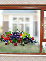 cheap -Fresh Fruit Window Film & Stickers Decoration Matte / 3D 3D Print / Character PVC(PolyVinyl Chloride) Window Sticker / Matte / Water-Repellent