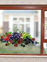 cheap -Fresh Fruit Window Film & Stickers Decoration Matte / 3D 3D Print / Character PVC(PolyVinyl Chloride) Window Sticker / Matte / Water-Repellent