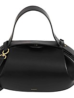 cheap -Women's PU Top Handle Bag Solid Color Black