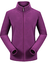cheap -Women's Hiking Fleece Jacket Winter Outdoor Windproof Fleece Lining Warm Comfortable Jacket Winter Fleece Jacket Top Fleece Single Slider Climbing Camping / Hiking / Caving Winter Sports Purple