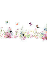 cheap -Romantic Flowers Decorative Wall Stickers - Plane Wall Stickers Floral / Botanical Bedroom / Study Room / Office / Indoor