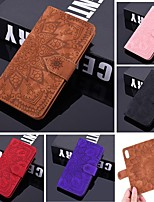cheap -Case For Samsung Galaxy A5(2018) / A6 (2018) / A6 Plus Wallet / Card Holder / Embossed Full Body Cases Solid Colored / Flower PU Leather For Galaxy J6 Plus/J4 Plus/A10S/A20S/A30S/A50S/A8 2018/J8 2018