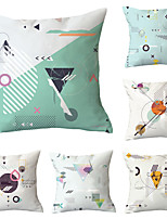 cheap -6 pcs Throw Pillow Simple Classic 45*45 cm Cushion Vintage Circle Cover Sofa Home Decor Throw Pillow Case